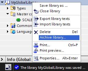 Archive-library-TIA-Portal